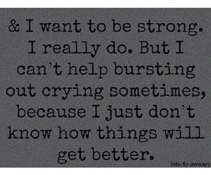 quote, crying, and depression image