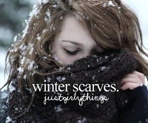 scarves, snow, and winter image