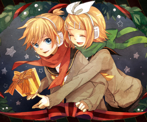 vocaloid, christmas, and anime image