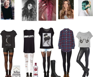 outfit, grunge, and fashion image