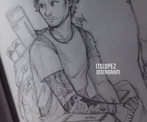 drawing, one direction, and Hot image
