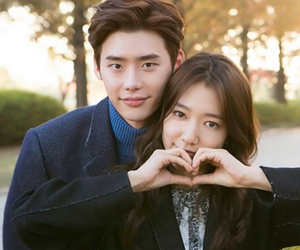 kdrama, park shin hye, and lee jong suk image