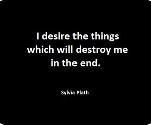 quote, desire, and destroy image