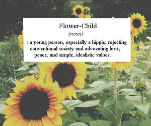 flowers, hippie, and flower child image