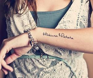 tattoo, hakuna matata, and no image