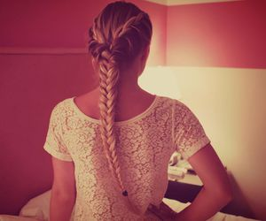 braid, girl, and long hair image