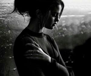 selena gomez, selena, and black and white image