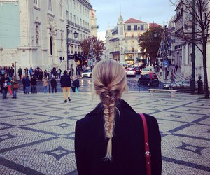 blonde, city, and cold image