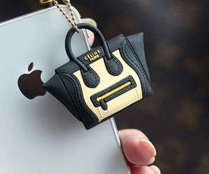 iphone, celine, and bag image