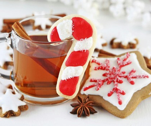 christmas, tea, and food image