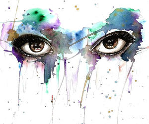eyes, art, and paint image