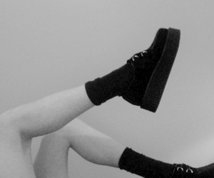 black and white, shoes, and girl image