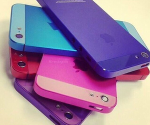 iphone, pink, and blue image