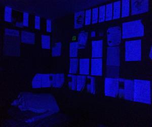 glow, blue, and grunge image