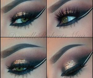 eye makeup, eyeliner, and eyeshadow image