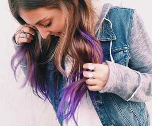 colored hair, fashion, and hoodie image