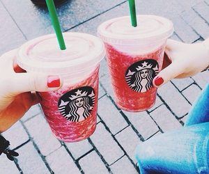 starbucks, summer, and friends image
