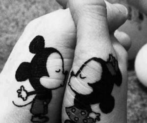 love, kiss, and mickey image