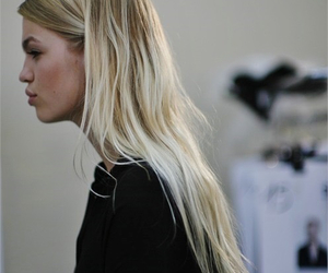 blonde, hair, and model image