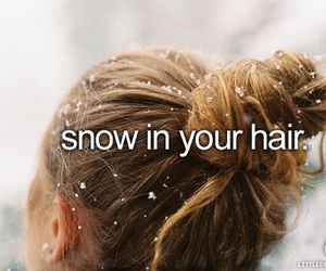 snow, hair, and winter image
