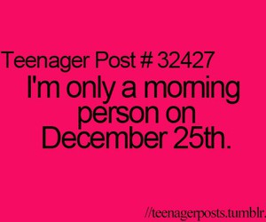 morning and teenager post image