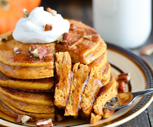 pancakes and pumpkin image