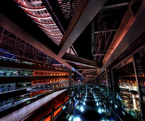 architecture, night, and tokyo image