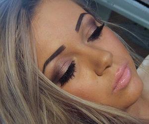 make up, hair, and lips image