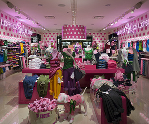 pink, shop, and store image