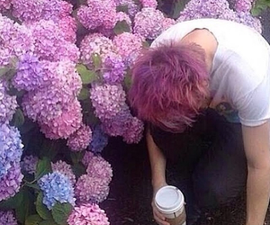5sos, michael clifford, and flowers image