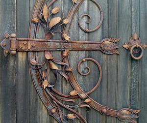 door, hinge, and flowers image