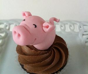 cupcake, food, and pig image