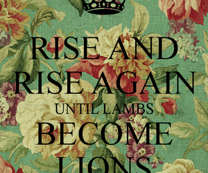 lambs, lions, and quote image