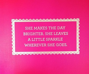 quote, pink, and sparkle image