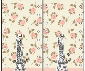 bookmark, eiffel tower, and flowered image