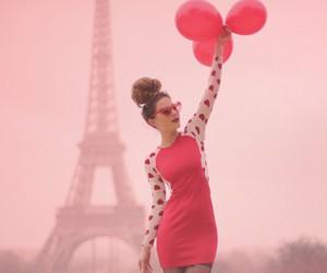 paris, red, and dress image