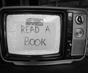 book, tv, and read image