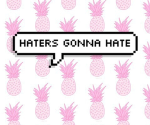 haters, wallpaper, and pink image