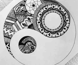 drawing, black, and white image