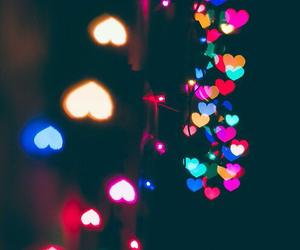 light, christmas, and heart image