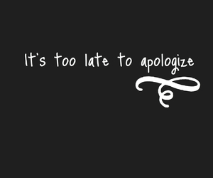 apologize, Lyrics, and music image