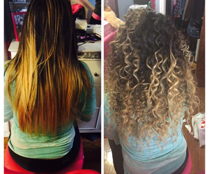 curly, hair, and ombre image