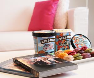 gossip girl, ice cream, and macarons image