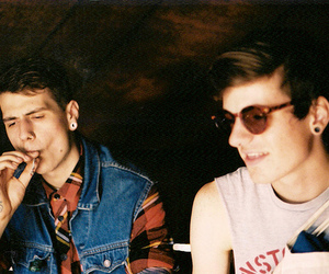 boy, indie, and smoke image