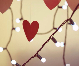 light, love, and heart image
