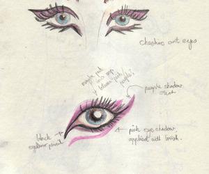 drwaing, eyes, and makeup image