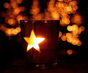 candle, light, and star image