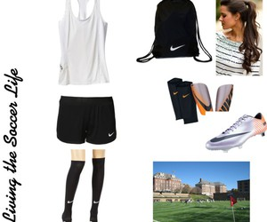 brunette, cleats, and nike image
