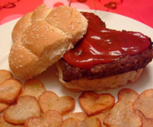 burger, Valentine's Day, and food image