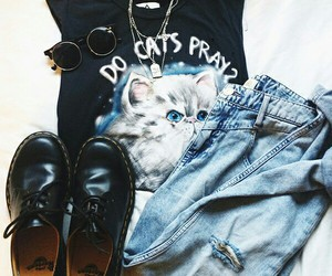 outfit, fashion, and grunge image